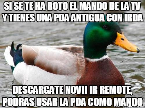 Pato_consejero - Usar una PDA como mando a distancia