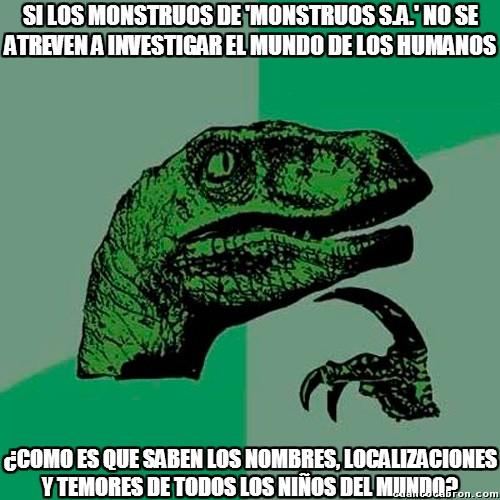 Philosoraptor - Lógica de 'Monstruos S.A.'