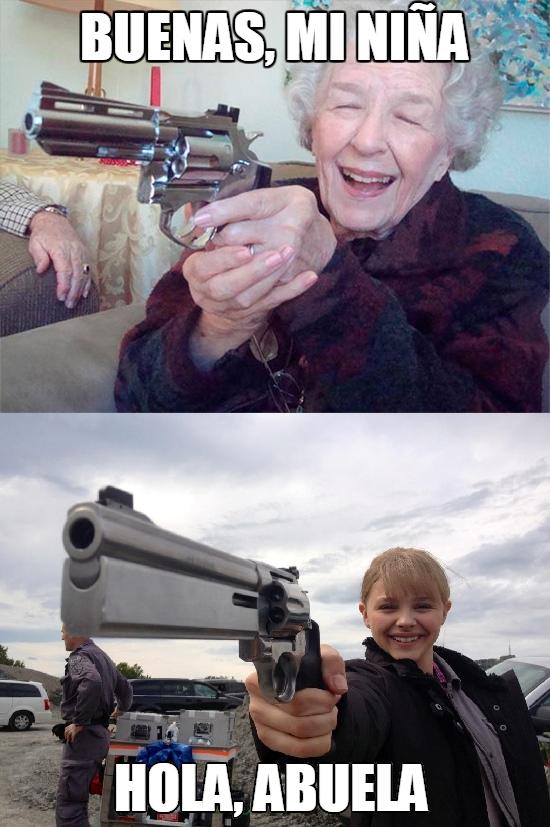 Abuela_amenazas - Nieta y abuela hechas de la misma pasta