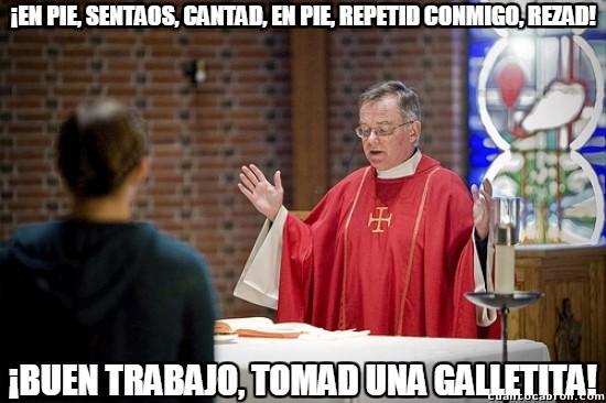 Meme_otros - Mientras tanto, en misa...