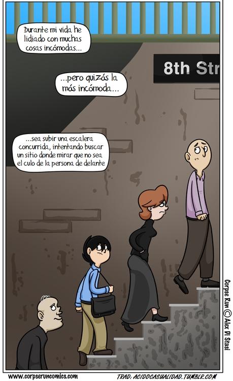 Otros - Lo más incómodo de subir escaleras con alguien delante
