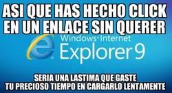 Enlace a Internet explorer, el troll tranquilo