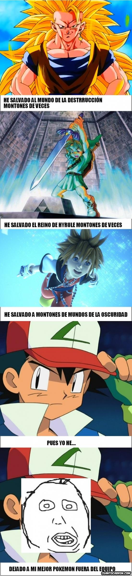Retarded - Ash tiene mucho que envidiar a otros grandes héroes