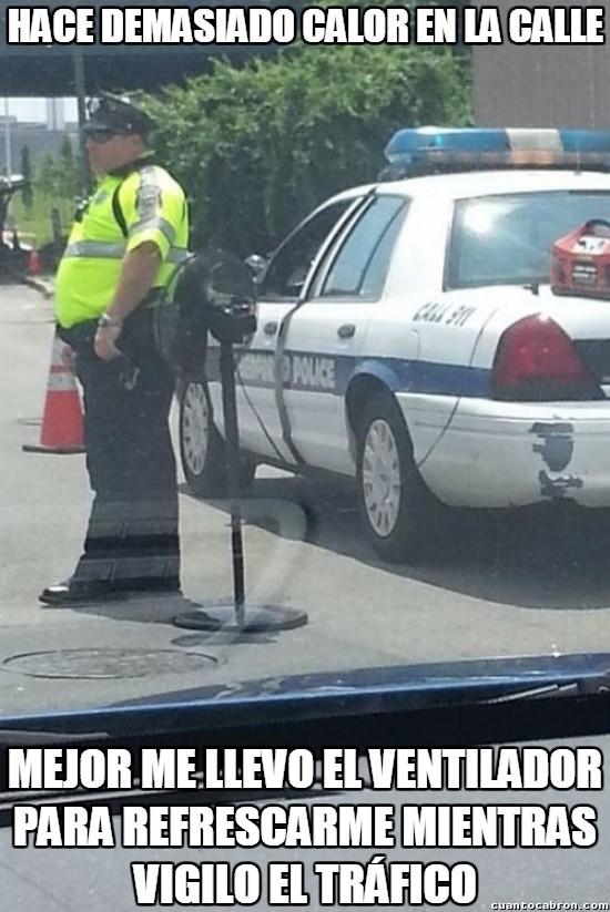 Meme_otros - Esa policía que no quiere pasar calor