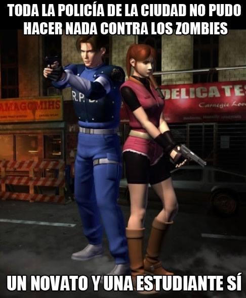 Meme_otros - La realidad de Resident Evil