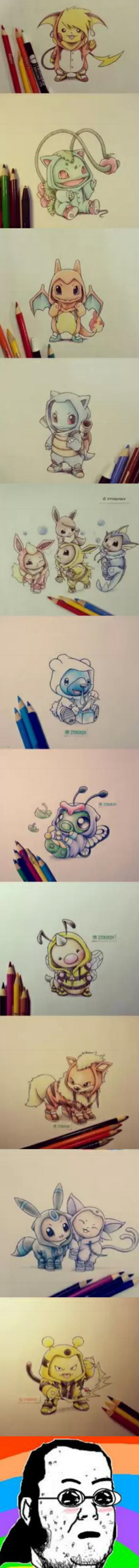 Friki - ¡Pokemones disfrazados y dibujados!