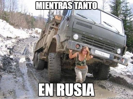 Meme_otros - Esta mujer podría ser la novia rusa de Overly Manly Man