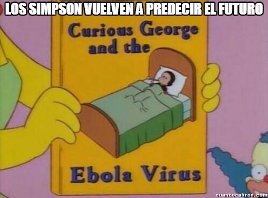 Meme_otros - Los Simpson ya se veían venir lo del ébola