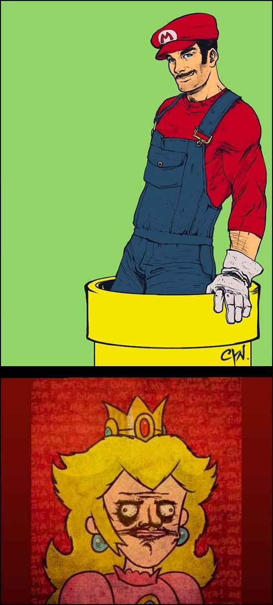 Me_gusta - Así la Princesa Peach se interesaría más en Mario