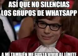 Enlace a Los grupos de Whatsapp deben ser silenciados
