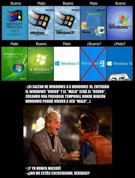 Meme_otros - Microsoft puede alterar el continuo espacio-tiempo con el próximo Windows