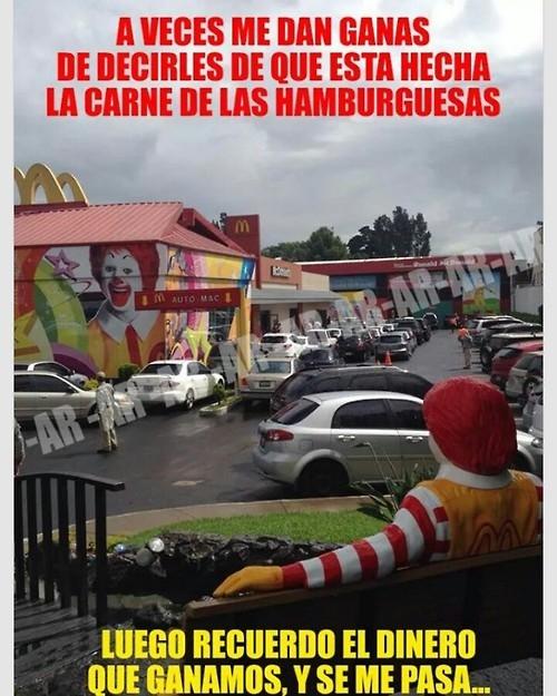 Meme_otros - La realidad de ciertos locales de comida rápida
