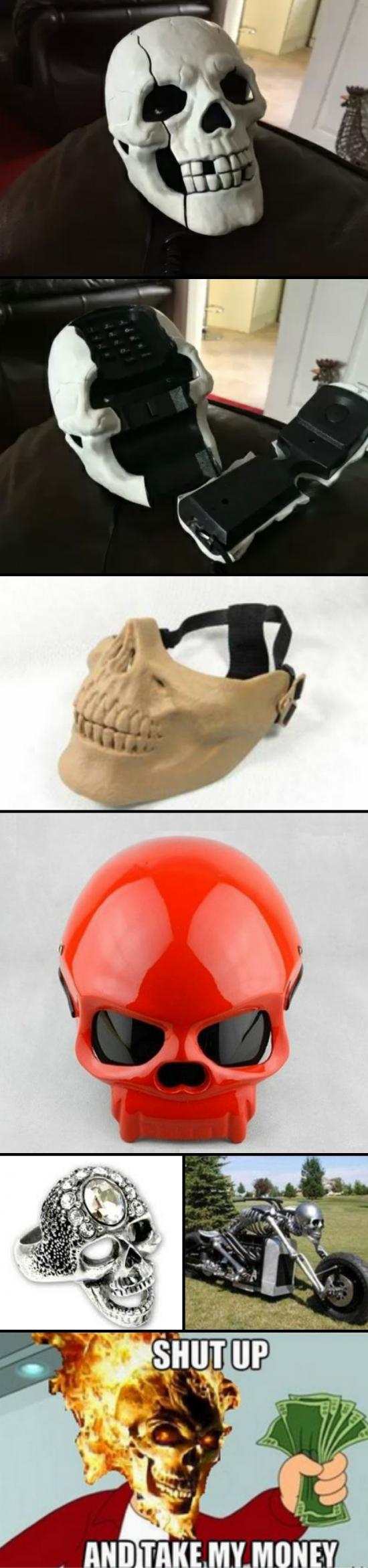 Otros - Productos Ghost Rider, ideales para los frikis en Halloween