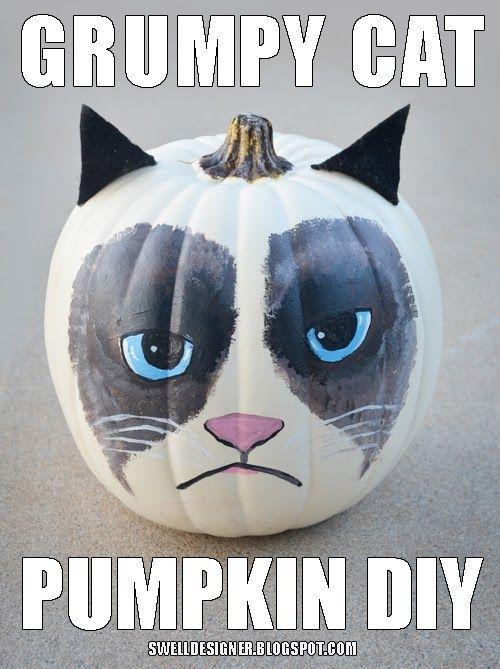 Grumpy_cat - No da demasiado miedo, pero puede ser la calabaza más chunga de este Halloween