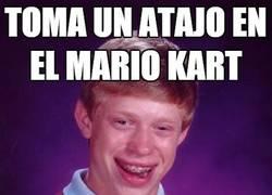 Enlace a Los atajos del Mario Kart no son efectivos para él