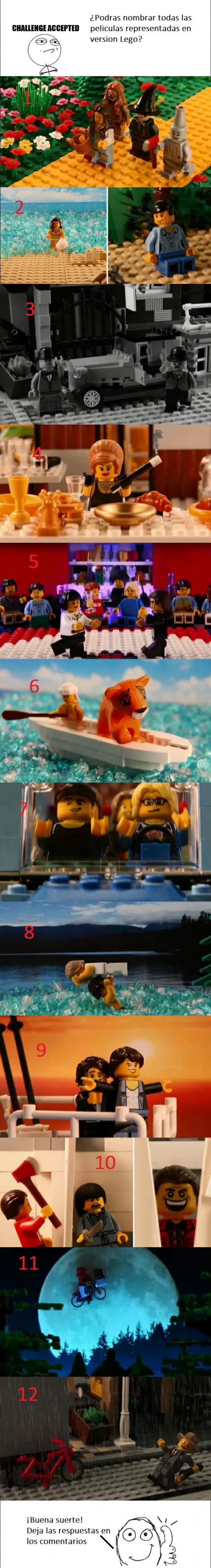 Otros - Escenas míticas de peliculas recreadas en LEGO, ¿podrás nombrarlas todas?
