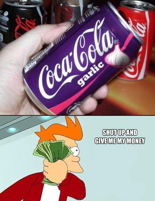 Fry - Dudo que esta Coca-Cola pueda ser demasiado refrescante