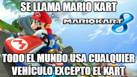 Meme_otros - El título del Mario Kart perdiendo su sentido a cada juego
