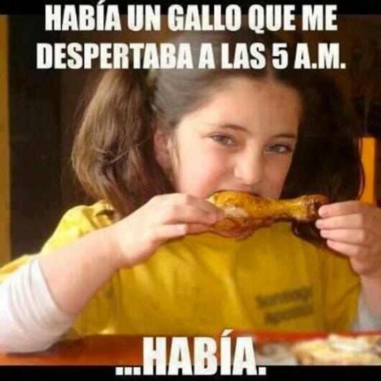 Meme_otros - Con esta niña es mejor que no te pongas ''gallito''