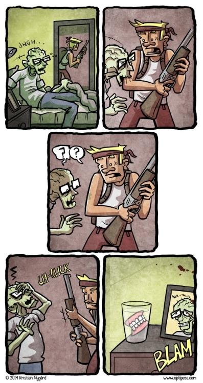Otros - ¿Es que nadie piensa en los zombis sin dientes?