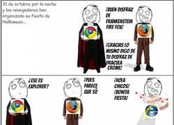 Enlace a El disfraz de Internet Explorer