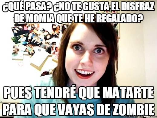 Halloween,loca,matar,momia,novia obsesiva,zombie