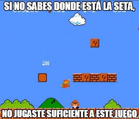 Meme_otros - Algo que todos sabemos del primer Super Mario Bros, ¿o no?