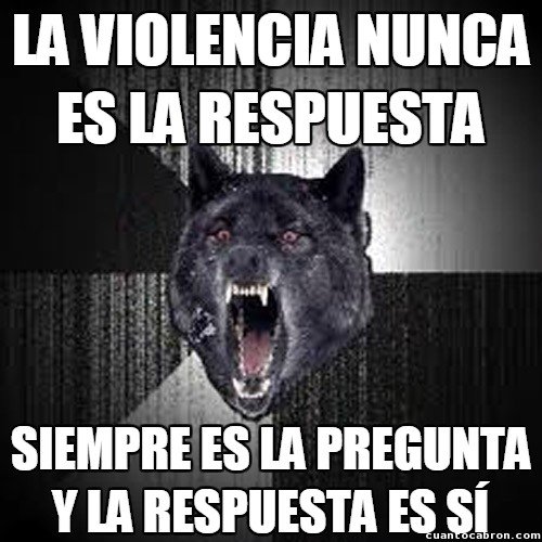 Lobo_demente - Este lobo está muy loco
