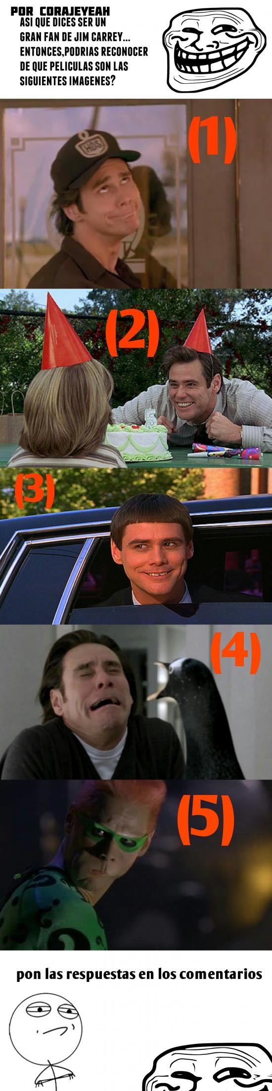 Trollface - ¿Eres un gran fan de Jim Carrey? ¡Demuéstralo!