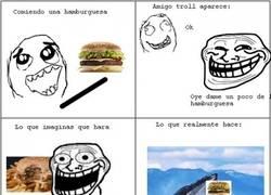 Enlace a Cuando comes una hamburguesa, no peques de generoso...