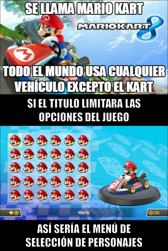 Meme_otros - ¡Y menos mal que las cosas son así en Mario Kart!