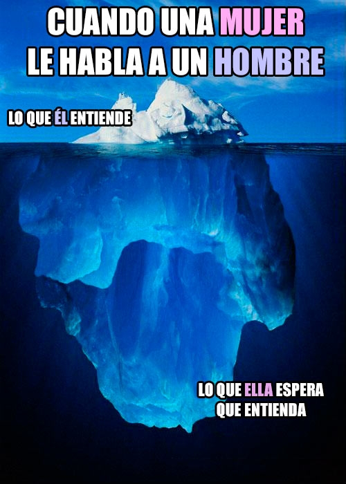 entender,hablar,hombre,iceberg,mujer
