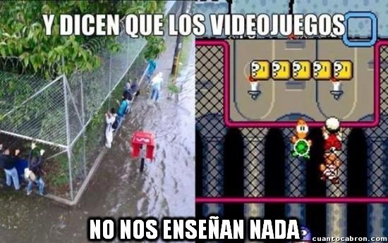 Meme_otros - La mejor forma de aprender es con los videojuegos