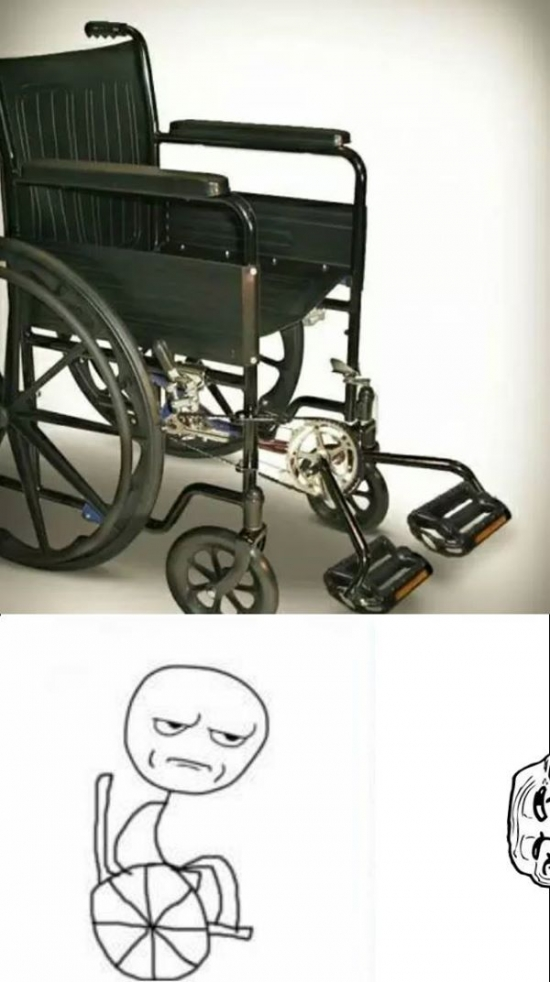Kidding_me - Inventos troll presenta:¡Silla de ruedas a pedales!