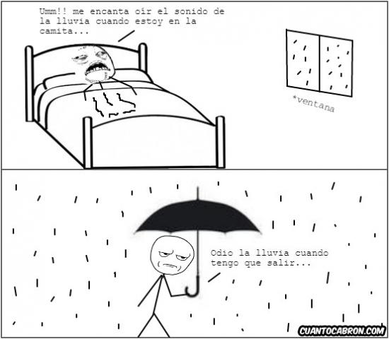 Otros - El doble rasero con los días de lluvia