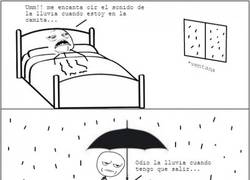 Enlace a El doble rasero con los días de lluvia