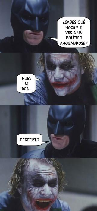 ahogados,ahogandse,ahogarse,batman,chiste,joker,políticos