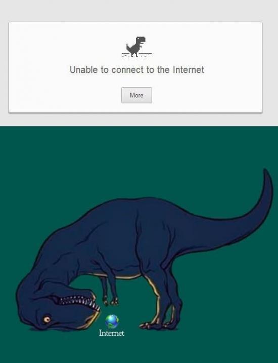 Otros - ¿Nunca te has preguntado por qué un Tiranosaurus Rex como mascota de error de Chrome?