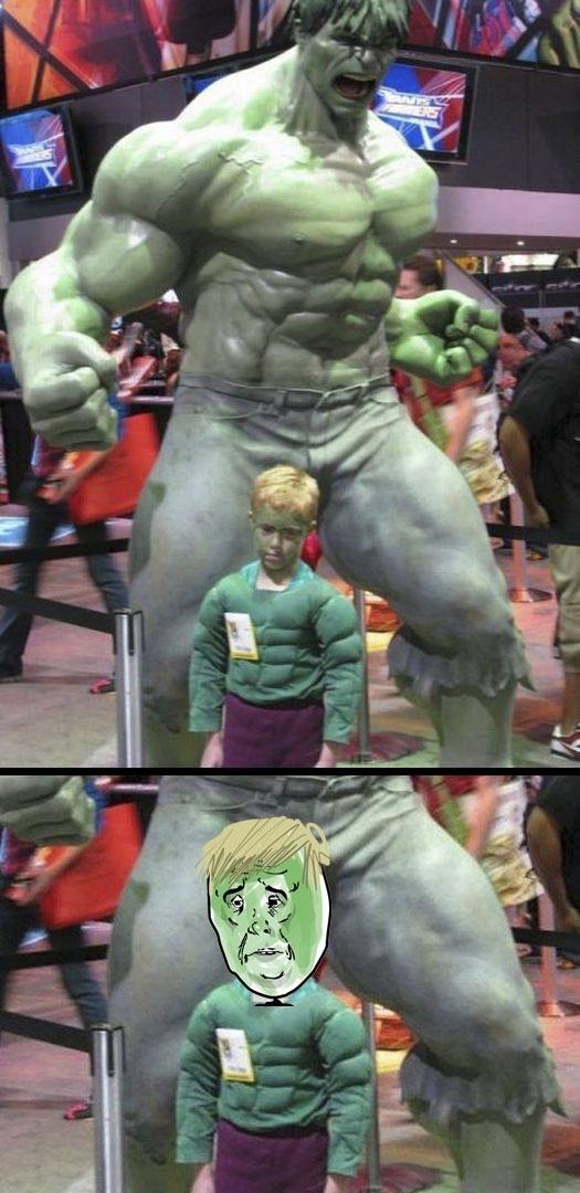 Okay - El pequeño Hulk sabe que nunca llegará a ser tan grande