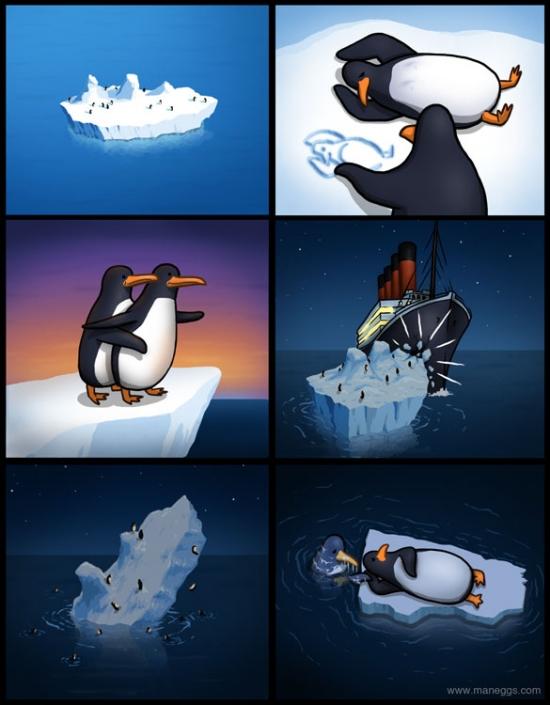 Otros - En Titanic, todo el mundo preocupado por el barco, pero nadie pensó en lo que pasaba en el iceberg
