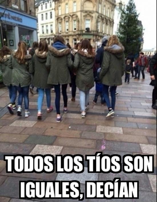 Meme_otros - Todos los tíos son iguales, ¿verdad chicas?