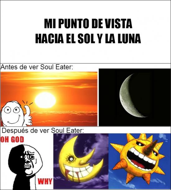 Oh_god_why - Soul Eater, cambiando la perspectiva del Sol y la Luna