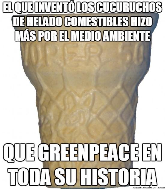 Meme_otros - ¿Lo mejor de los cucuruchos de helado? Aparte de lo buenos que están, no generan residuos