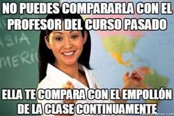 Enlace a Está feo comparar profesores unos con otros, pero ellos pueden hacer lo que les dé la gana