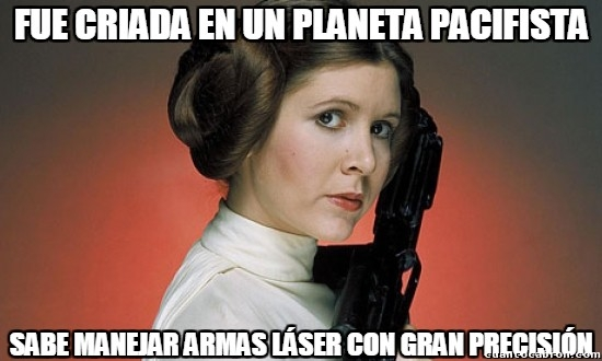 Meme_otros - Leia, la princesa guerrera