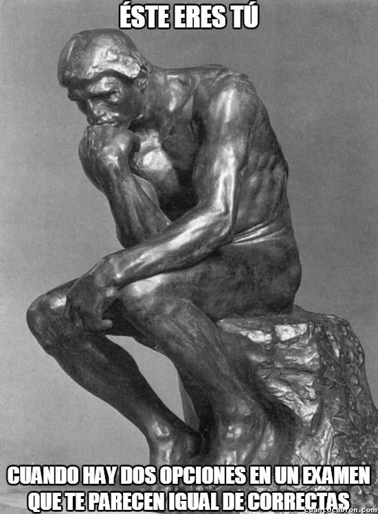 Meme_otros - En esto se inspiró Rodin para hacer a su pensador