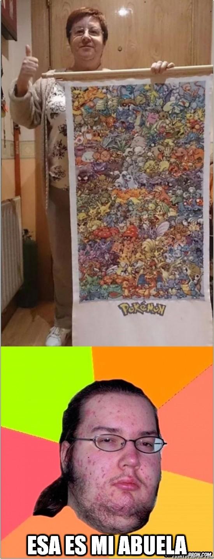 Gordo_granudo - La abuela que se bordó la primera generación Pokemon en punto de cruz