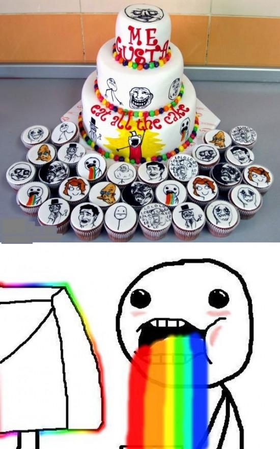 Puke_rainbows - Ojalá pudiera desayunarme ahora mismo uno de esos cupcakes