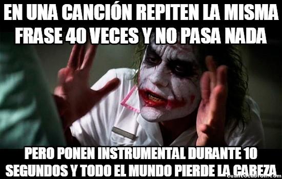 Joker - Hay gente que no tiene paciencia con las canciones