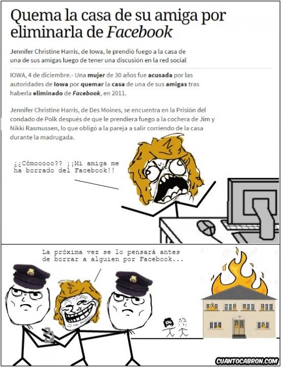 Trollface - Será mejor que nos pensemos antes a quién vamos a  borrar del Facebook no nos vaya a pasar lo mismo